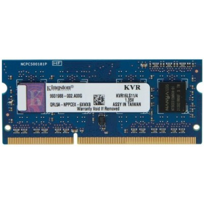 Kingston SODIMM DDR3L-1600 4096MB PC3L-12800 (KVR16LS11/4)
