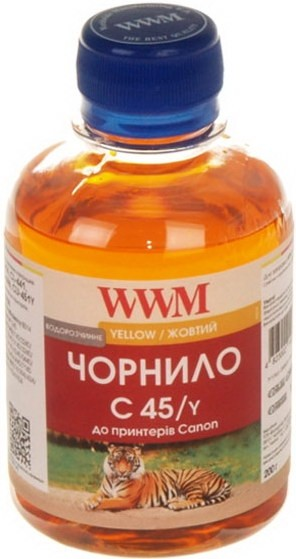Чернила WWM для Canon CL441/446/CLI-451 Yellow (C45/Y)
