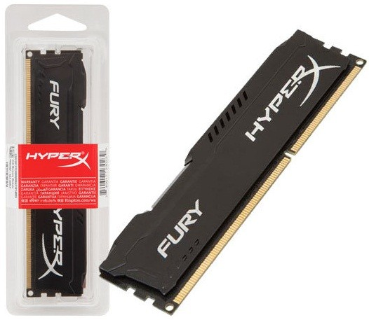 Память Kingston DDR3-1600 4096MB PC3-12800 HyperX FURY Black (HX316C10FB/4)