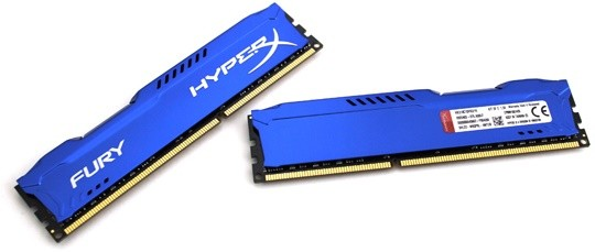 Память Kingston DDR3-1866 16384MB PC3-14900 (Kit of 2x8192) HyperX FURY Blue (HX318C10FK2/16)