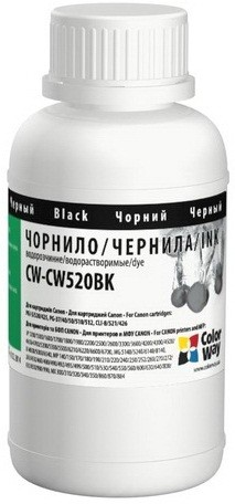 Чернила ColorWay Canon PG-510/PGI520 200 мл CW520BK Black (CW-CW520BK02)