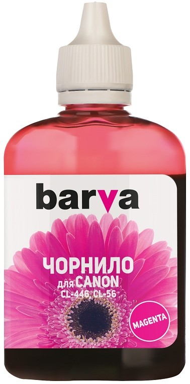 Чернила Barva для Canon CL-446/CL-56 (E404/MG2440/IP2840) Magenta 90г (C446-439) (I-BAR-CCL446-090-M)
