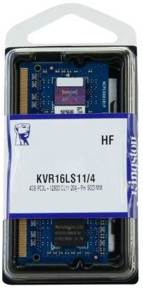 Память Kingston SODIMM DDR3L-1600 4096MB PC3L-12800 (KVR16LS11/4)