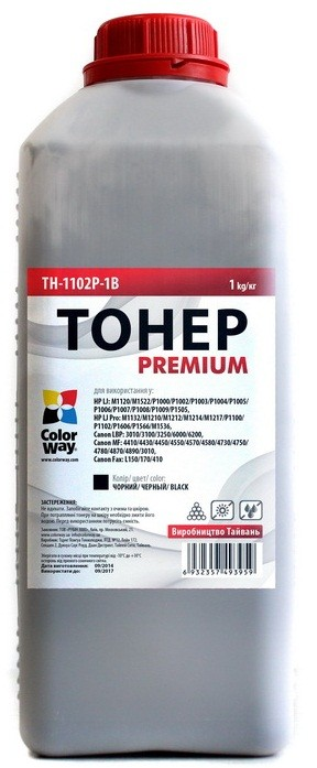 Тонер Colorway Premium HP LJ P1102/P1606/Canon 725/Canon 728 (1kg) (TH-1102P-1B)