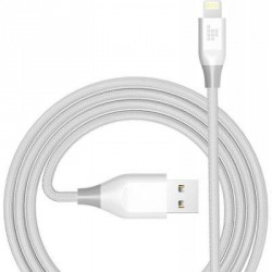 Дата кабель USB 2.0 AM to Lightning 1.2m MFi 19AWG Nylon White Tronsmart (210343)