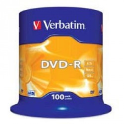Диск DVD-R Verbatim 4.7Gb 16X CakeBox 100шт (43549)