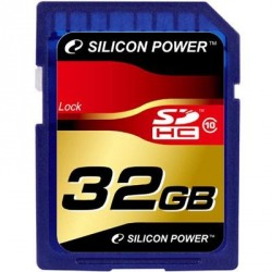 Карта памяти 32Gb SDHC class 10 Silicon Power (SP032GBSDH010V10)
