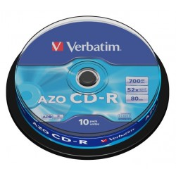 Диск CD-R Verbatim 700Mb 52x Cake box 10шт Extra (43437)