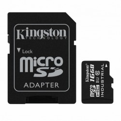 Карта памяти Kingston 16GB microSD class 10 UHS-I Industrial (SDCIT/16GB)