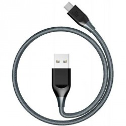 Дата кабель USB 2.0 AM to Type-C 1.0m ATC5 Nylon Grey Tronsmart (235692)