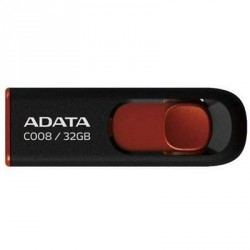USB флеш накопитель A-DATA 32Gb C008 black+red (AC008-32G-RKD)