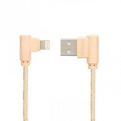 Дата кабель USB 2.0 AM to Lightning Pro Emperor 1A Gold Gelius (63249)