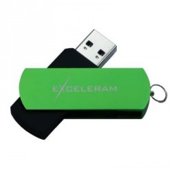 USB флеш накопитель eXceleram 32GB P2 Series Green/Black USB 3.1 Gen 1 (EXP2U3GRB32)